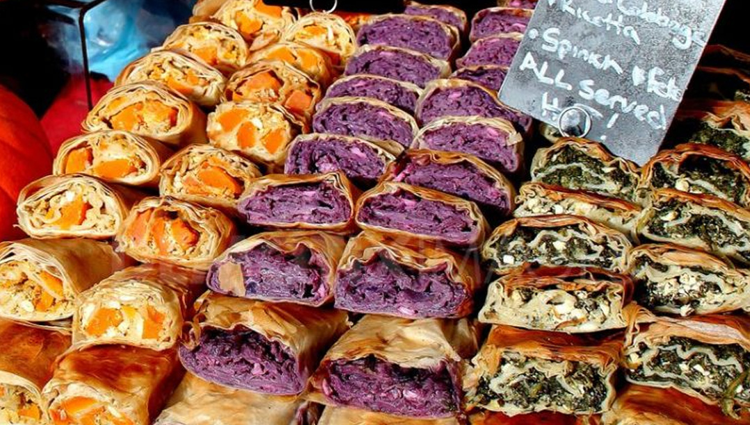 Market Stall of Fresh Italian Sandwiches