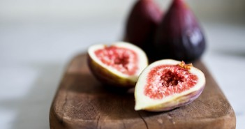 Fresh Figs on Wooden Chopping Board