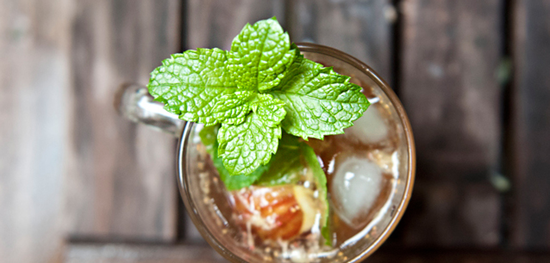 Fig and Bourbon Fiz Drink