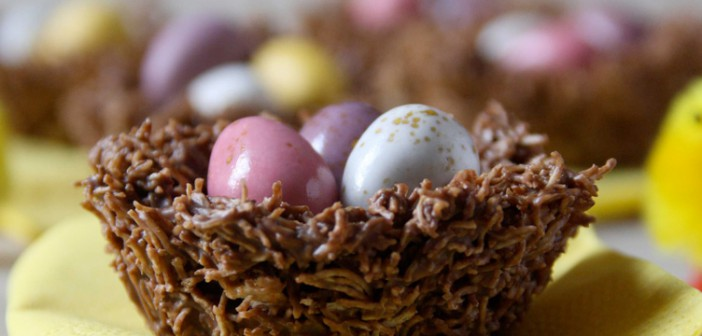 Chocolate Cornflake Easter Cakes