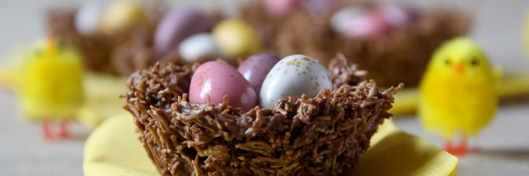 Chocolate Easter Egg Nest Cakes