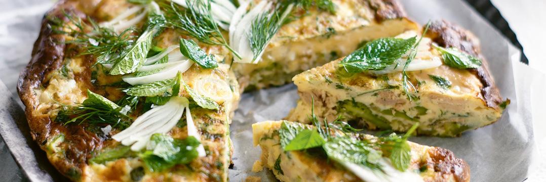 Mint and Asparagus Frittata