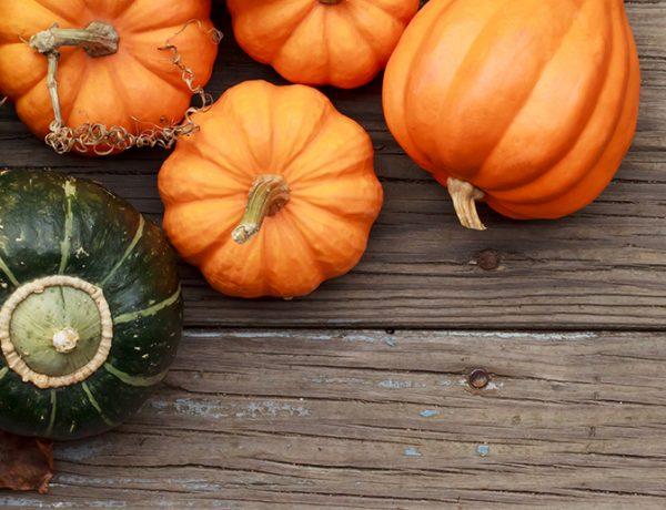 Green and Orange Halloween Pumpkins