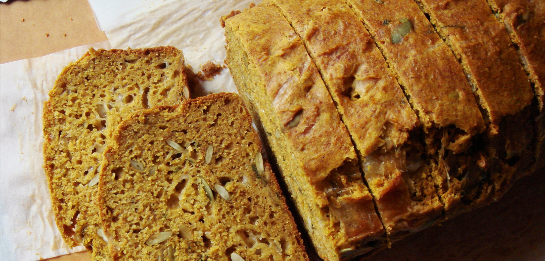 Freshly Baked Pumpkin Cheese Bread