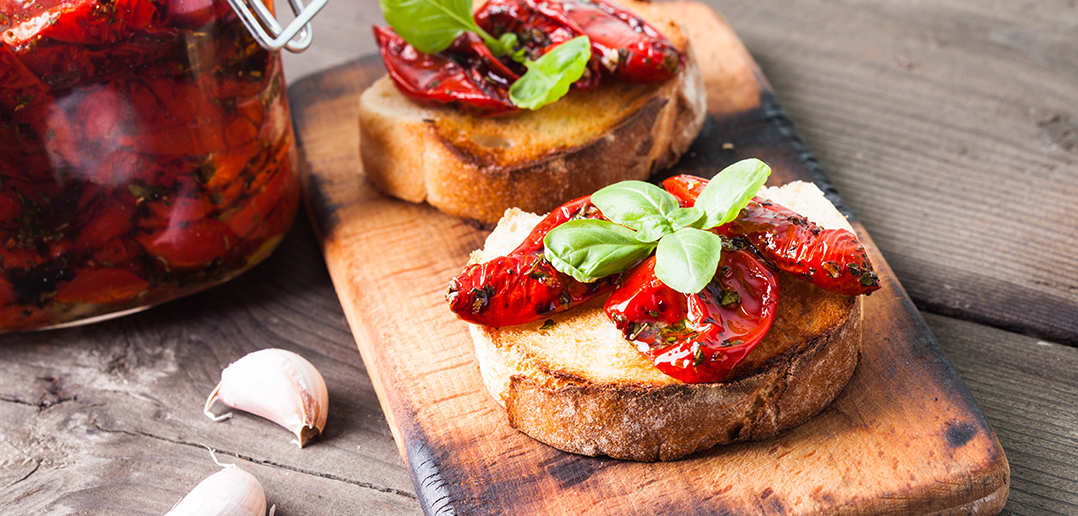 Pan Con Tomate on Chopping Board