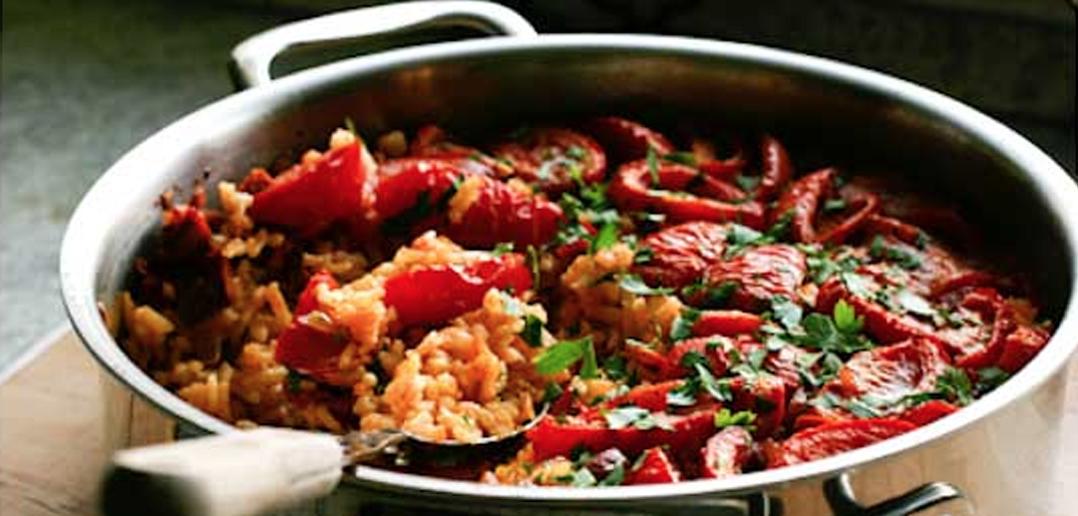Tomato and Chorizo Paella