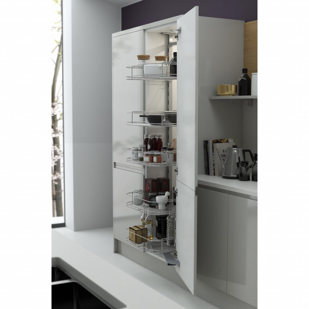 Pullout tower larder from Wren Kitchens