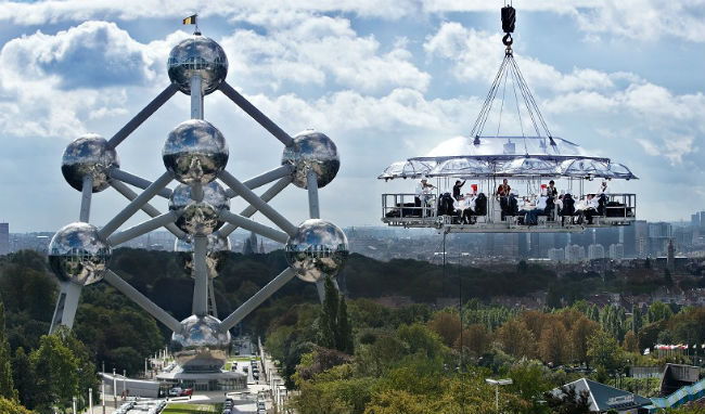 Dinner In The Sky In Brussels