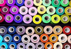 Rolls of Multicoloured Fabric