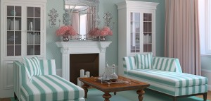 Traditional Lounge in Teal