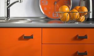 Bright Orange Kitchen Cabinets
