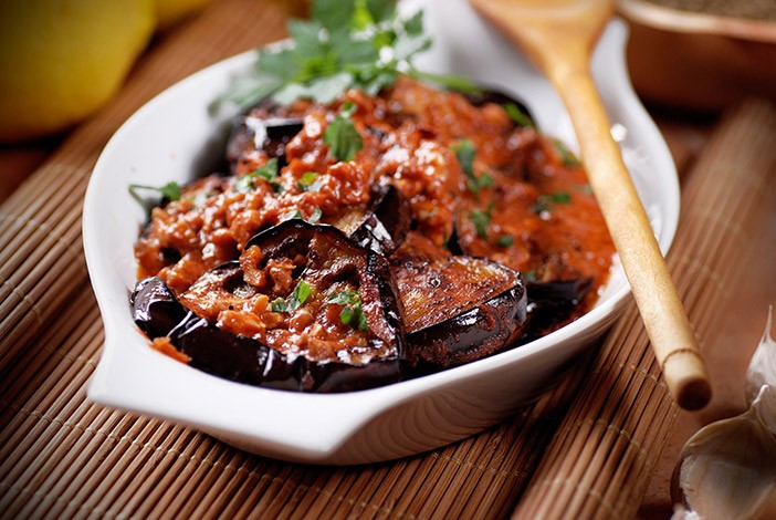 Bowl of Keralan Aubergine Curry