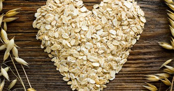 Oats Shaped into Heart