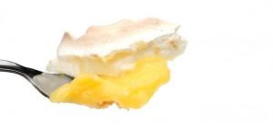 Lemon Meringue Pie on Desert Spoon