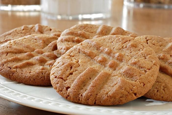 Freshly Baked Vegan Peanut Butter Cookie