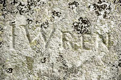 Sir Christopher Wren's Name Carved into Stone Henge