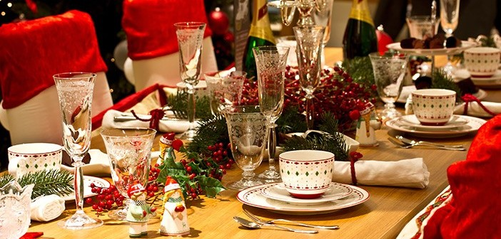 Decorated Christmas Dinner Table