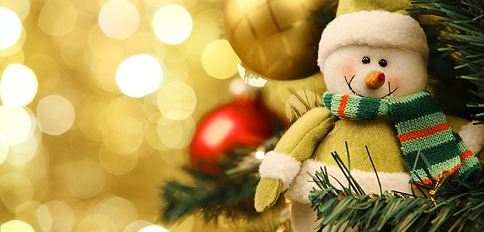 Snowman Decoration on Christmas Tree