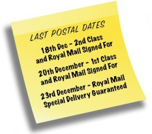 Christmas Postal Dates Note