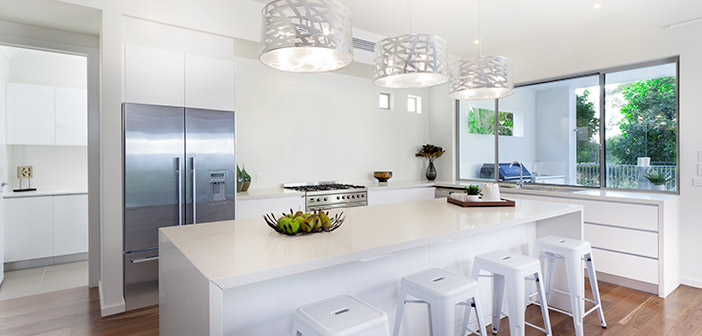 Modern Kitchen With Island and Seating