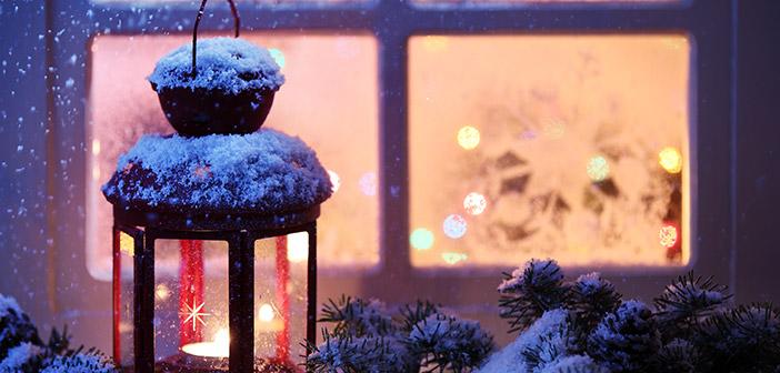 Christmas Scene Outside Window