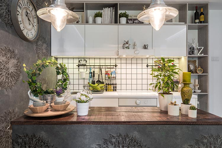 Unique Kitchen Pendant Lights and Wallpaper