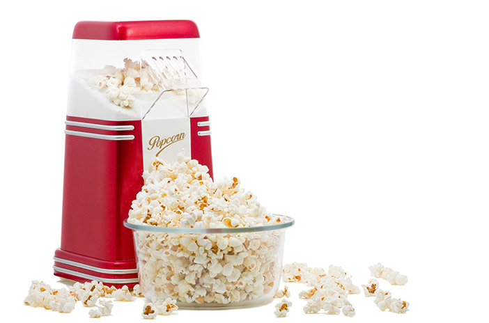 Popcorn Maker With Bowl of Popcorn