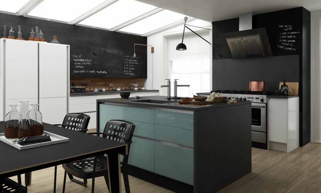 Wren Designer Range modern Handleless Kitchen