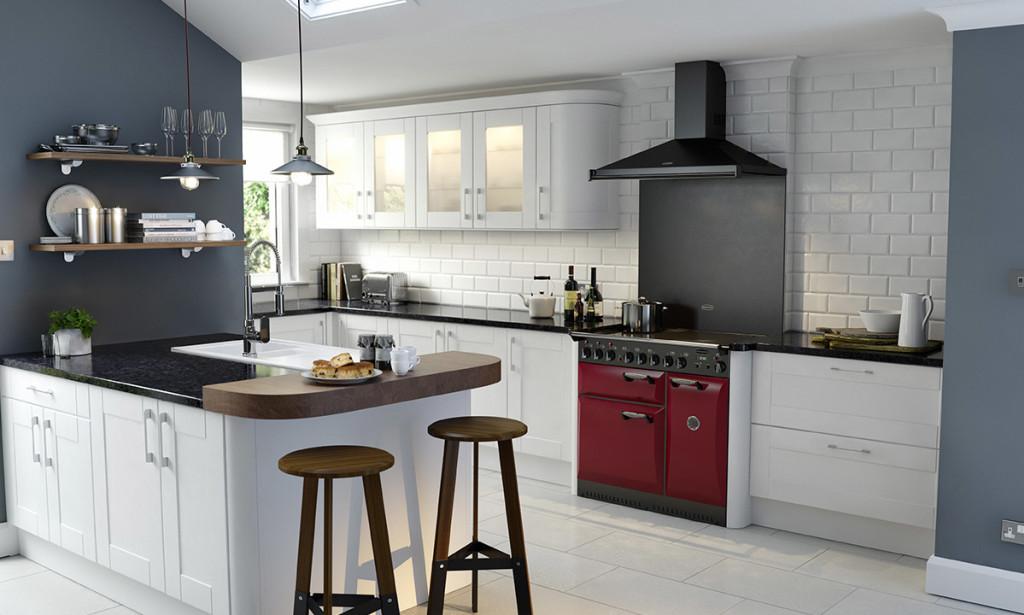 Wren Designer Range Shaker Ermine True White Kitchen