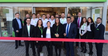 Wren Staff Outside New Swansea Showroom