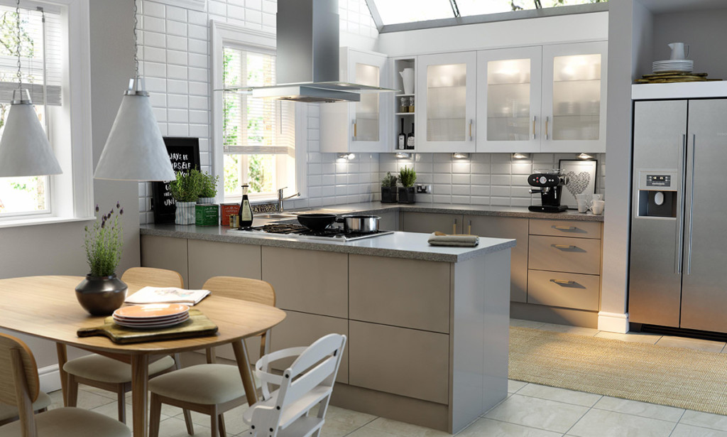 Modern Family Kitchen With Dining Area
