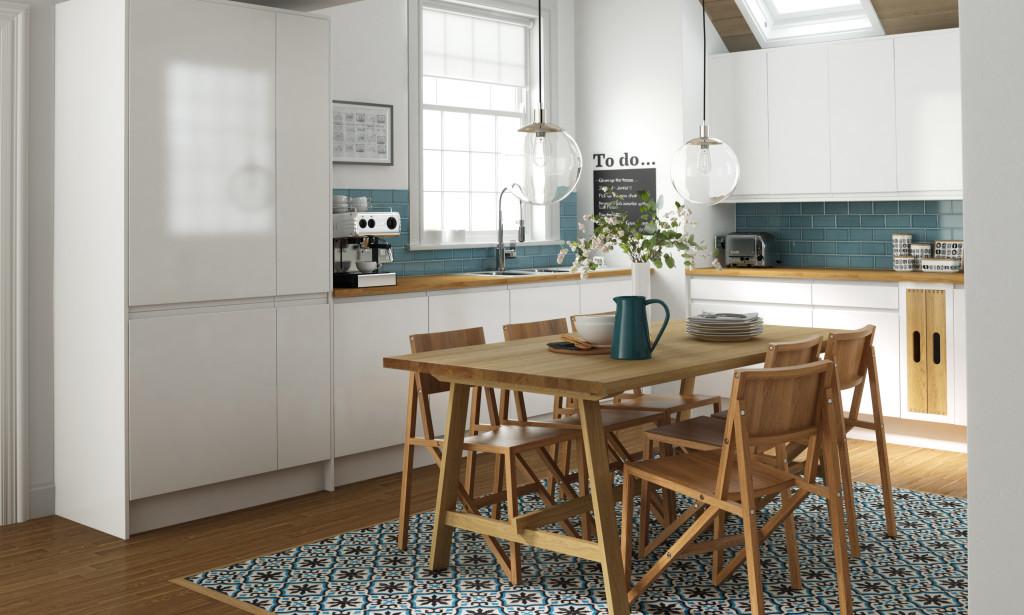 Bright Spacious Scandinavian Inspired Wren Kitchen
