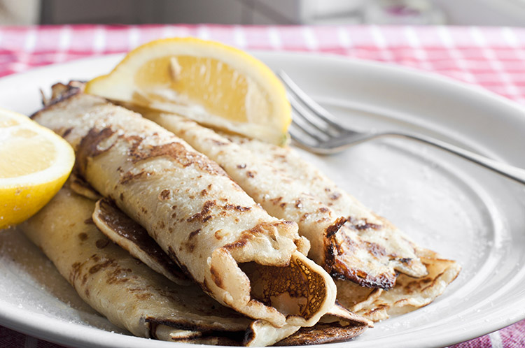 Simple Lemon and Sugar Pancakes