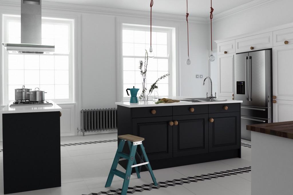 Linda Barker Sculptured White Raven Kitchen