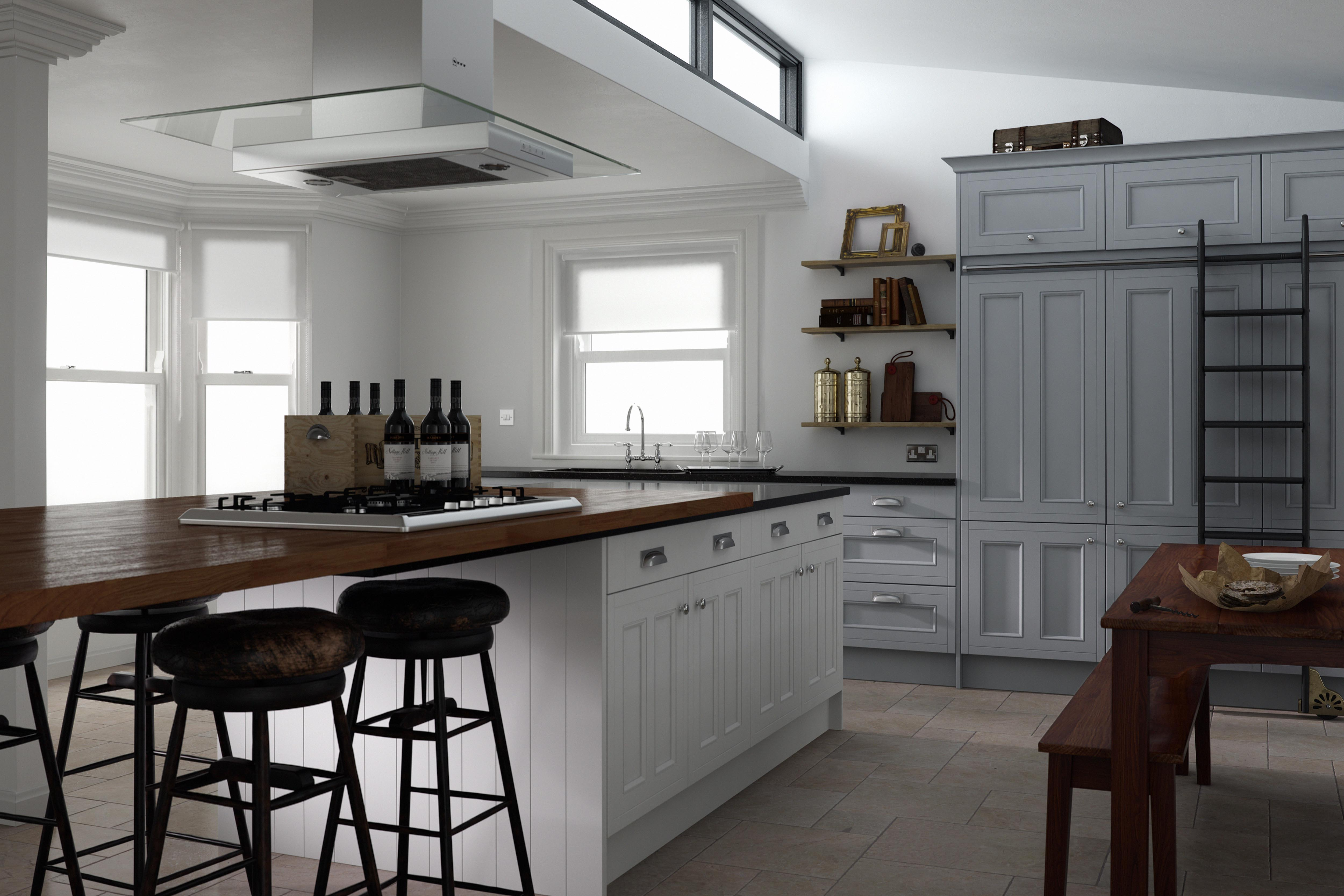 50 shades of grey sultry kitchen design wren kitchens blog for Grey country kitchen