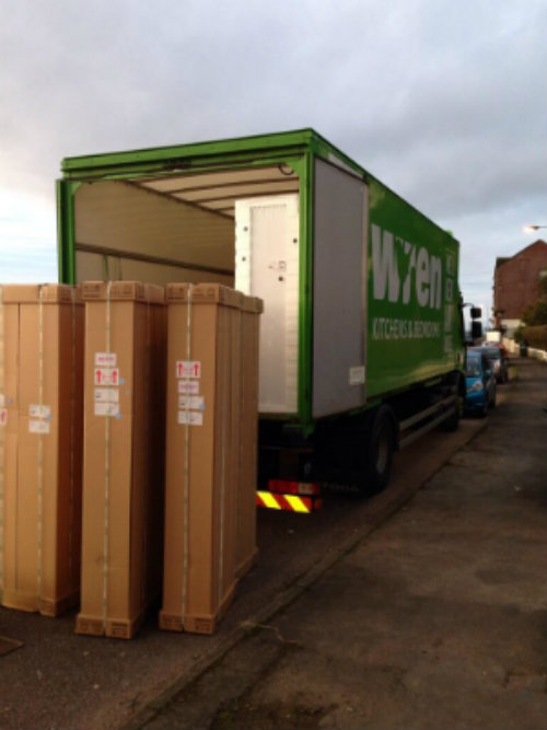 Furniture Loaded Onto Wren Lorry