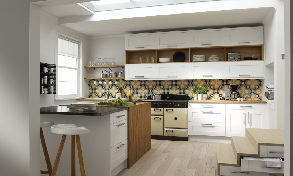 White Country Gloss Kitchen