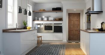 High Gloss Handleless White Kitchen