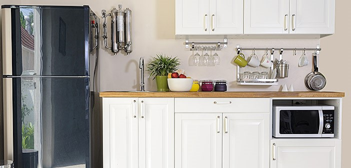 Small Kitchen With Good Storage asnd Shelving