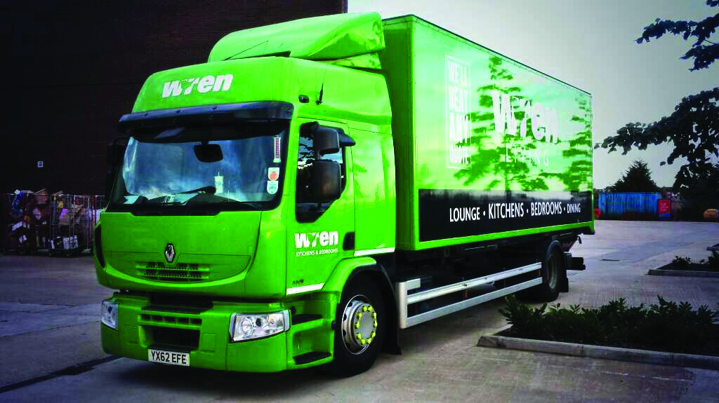 Bright Green Wren Kitchens Truck