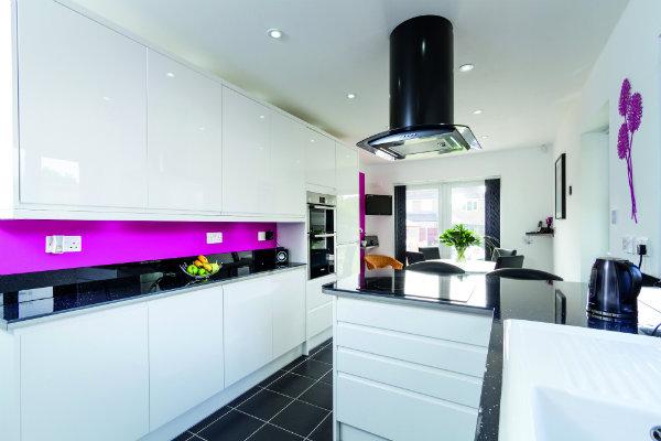 Bright Modern Handleless White Wren Kitchen