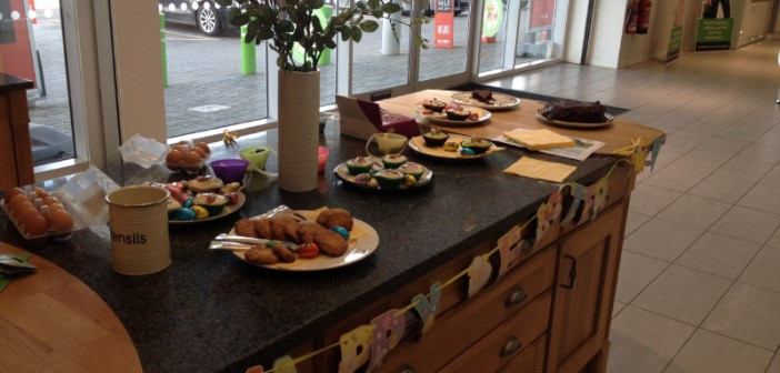 Wren Kitchens Easter Charity Cake Sale With CLIC Sargent