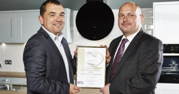 Jason McNulty Accepts FIRA Award For Wren Kitchens