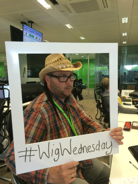 John Wild Celebrstes CLIC Sargent Wig Wednesday