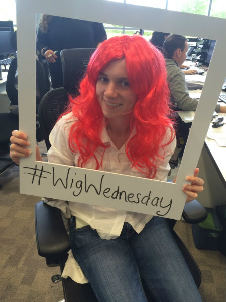 Wren Kitchens Office Support CLIC Sargent on Wig Wednesday