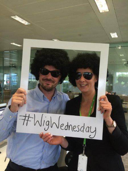 Rich and Kelly Supporting Wig Wednesday