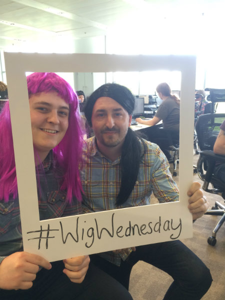 Wren Kitchens Employees Supporting Wig Wednesday