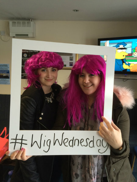 Wren Kitchens Employees Dress Up for Wig Wednesday