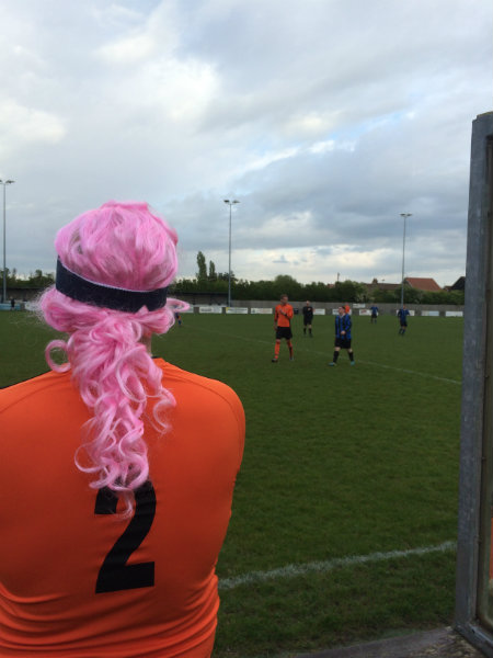 Wren Kitchens Play Charity Football on Wig Wednesday
