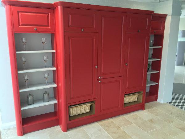 Red Linda Barker Larder Unit Wren Kitchen